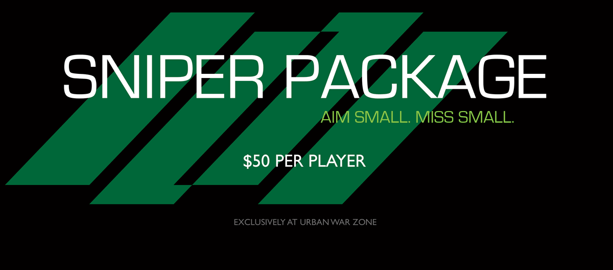Unlimited paintball refills with the Sniper Paintball Package